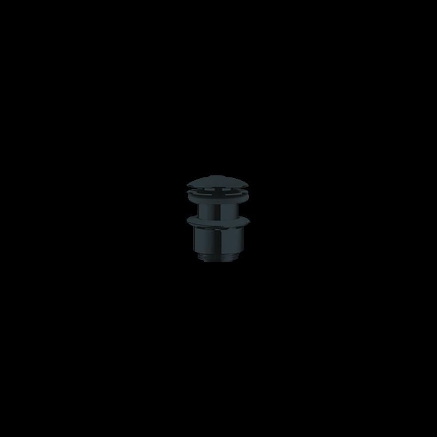 Piletta click-clack nera senza troppopieno 244