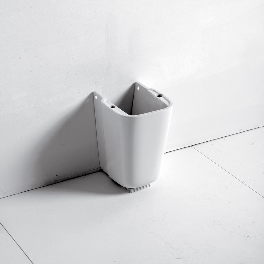 Semi-piédestal pour bassin Synthesis Olympia Ceramica