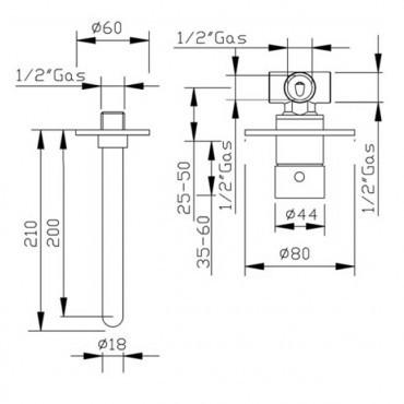 Miscelatore per lavabo nero Heos 3070