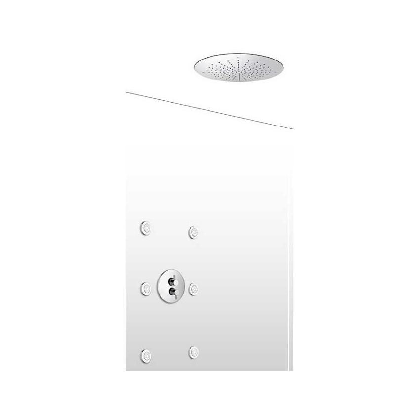 Soffione doccia con miscelatore termostatico e body-jet AD20