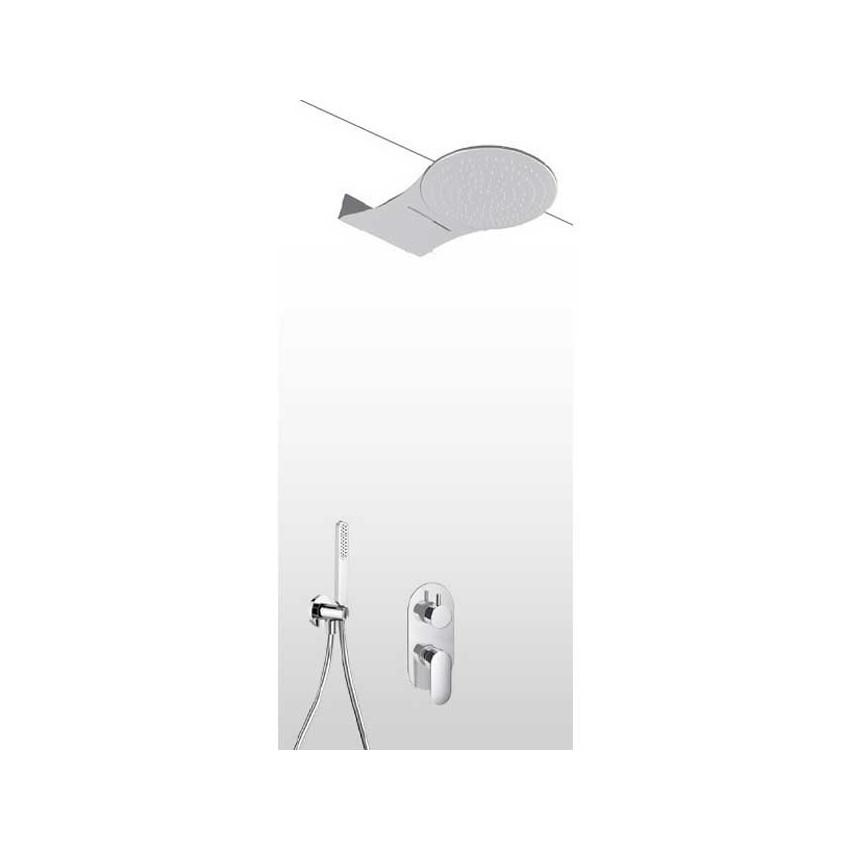 Pomme de douche à effet pluie et cascade avec kit de douche et mitigeur AD27