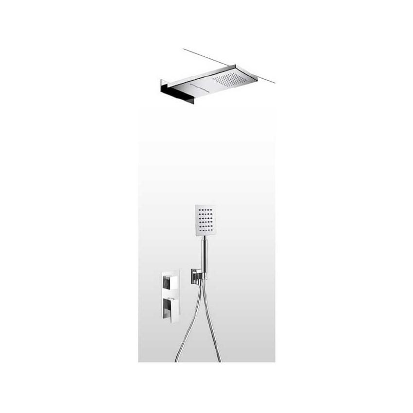 Soffione doccia a parete con kit doccia e miscelatore AD28