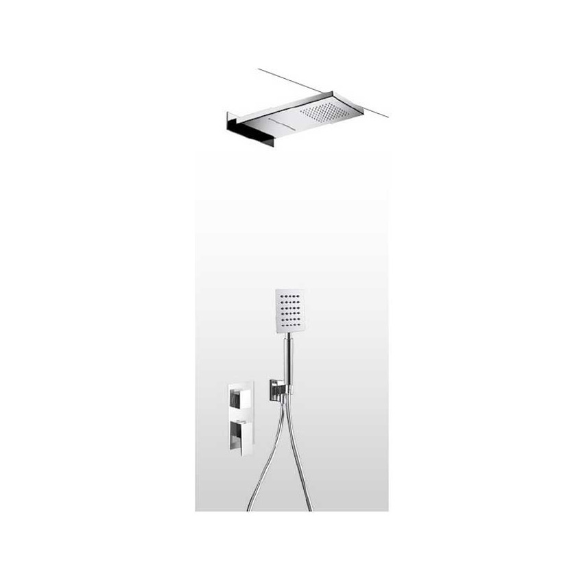 Wall-mounted shower head with shower kit and mixer AD28