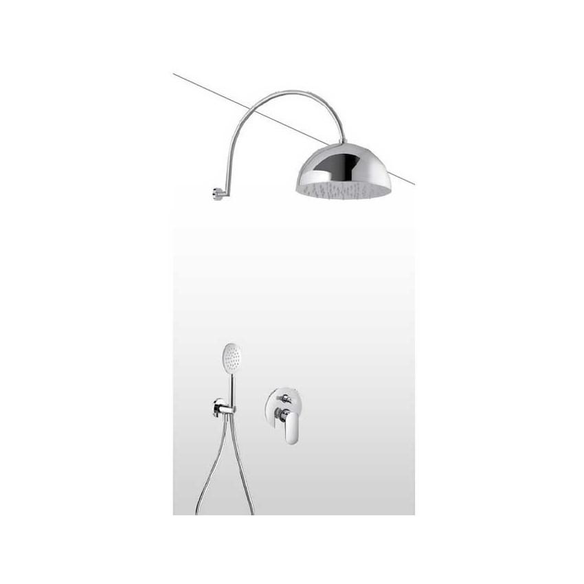 Soffione doccia a campana con kit doccia e miscelatore AD31
