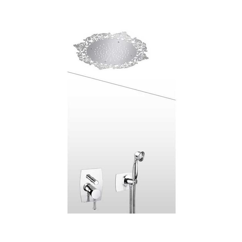 Pomme de douche rétro avec kit de douche et mitigeur rétro AD34