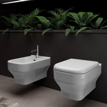 modern suspended sanitary ware Synthesis Olympia Ceramica