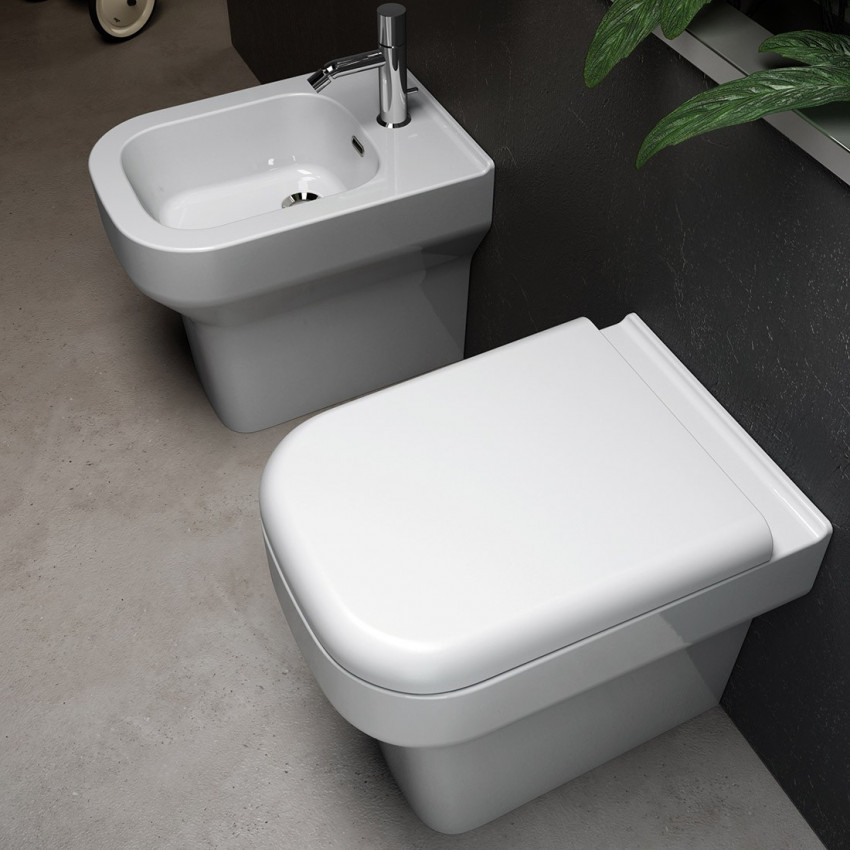 Cheap back to wall sanitary ware Synthesis Olympia Ceramica