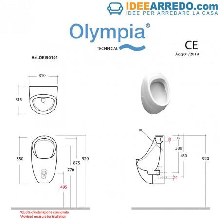 orinatoio prezzo misure Olympia Ceramica