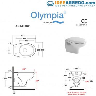 Vaso sospeso Rubino Olympia Ceramica