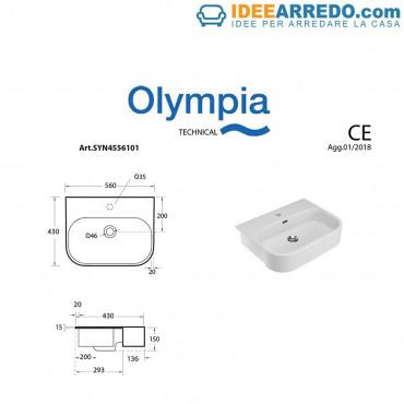 Lavabo semiencastrado Synthesis Olympia Ceramica