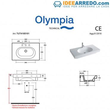 Lavabo consolle lavandino sospeso TuttoEvo Olympia