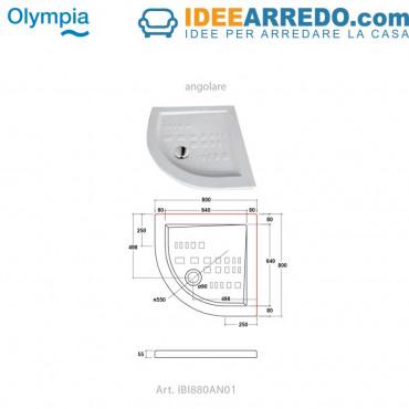 Receveur de douche semi-circulaire en céramique Ibis Olympia Ceramica