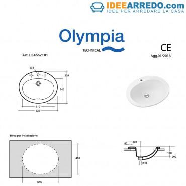 lavabi per hotel - lavandini ad incasso Olympia Ceramica