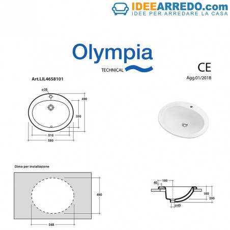 built-in washbasin Olympia prices