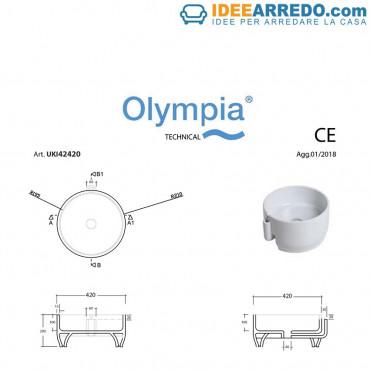 Vasque à poser rond Ukiyo-E Olympia