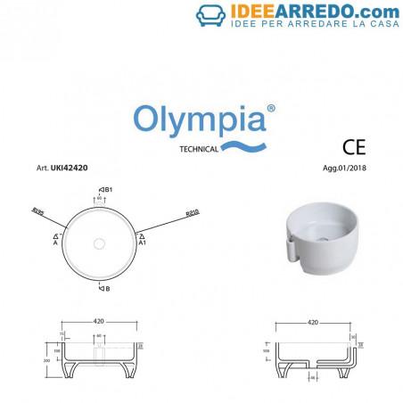 misure lavandino bagno Olympia ceramica Ukiyo-E