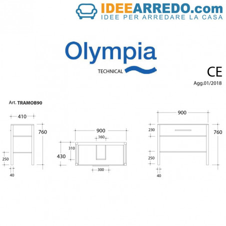 meubles de salle de bain mesure Olympia stretch