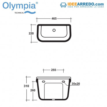 Cisterna de mochila para inodoro Impero y mecanismo de descarga Olympia