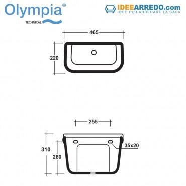Réservoir à dos pour sanitaire Empire + mécanisme de décharge Olympia Ceramica