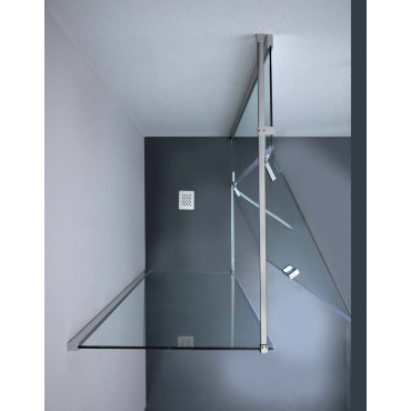 8mill Infinity shower enclosure with Colacril corner hinged 80/120 cm