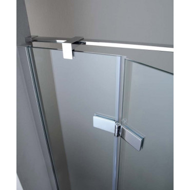 Cabine de douche d'angle 8mill Infinity Colacril porte battante 130/180 cm