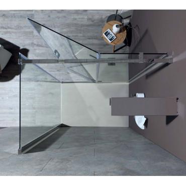 Box doccia angolare 8mill Infinity Colacril porta battente 130/180 cm