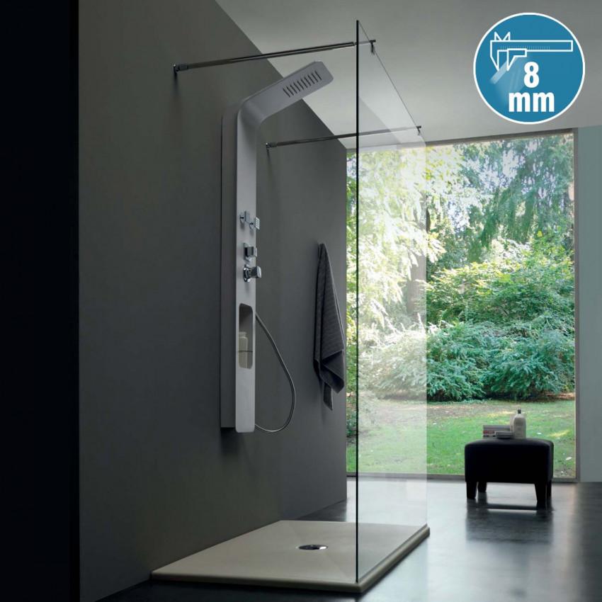 Colacril walk-in shower enclosure 8PAR54 center wall