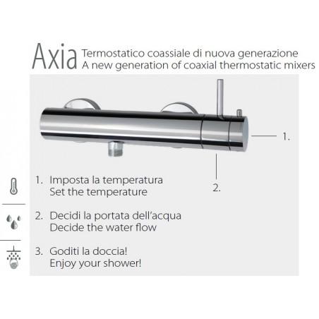 come funziona miscelatore termostatico doccia coassiale Gaboli Fratelli rubinetteria