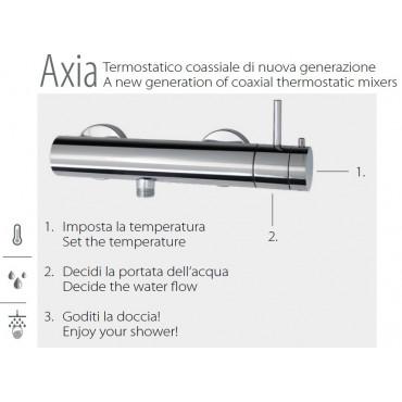Douche thermostatique pour colonne, convertible 2326TM Gaboli Flli