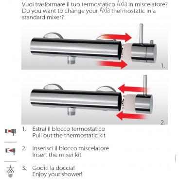 Doccia termostatica per colonna, trasformabile 2326TM Gaboli Flli