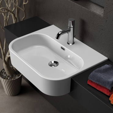 semi-recessed washbasin prices