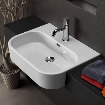 prix du lavabo semi-encastré