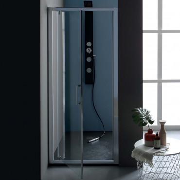 Cabine de douche en niche à...