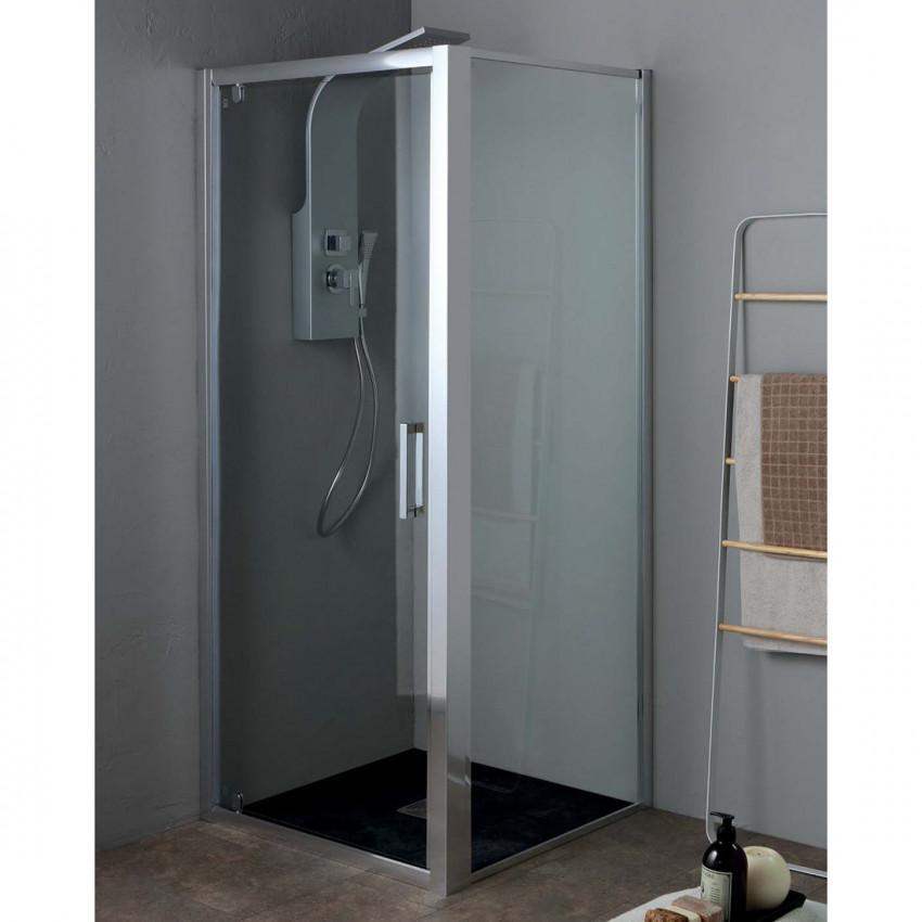 Cabine de douche d'angle avec porte battante en verre simple FPB40 Colacril