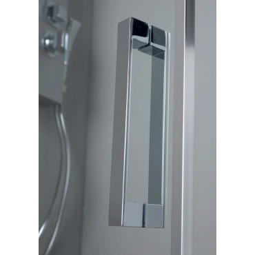 Corner shower enclosure with double glass hinged door FPB40 Colacril