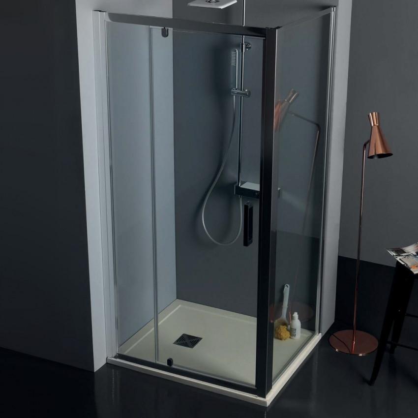 Box doccia angolare porta battente vetro doppio FPB40 Colacril