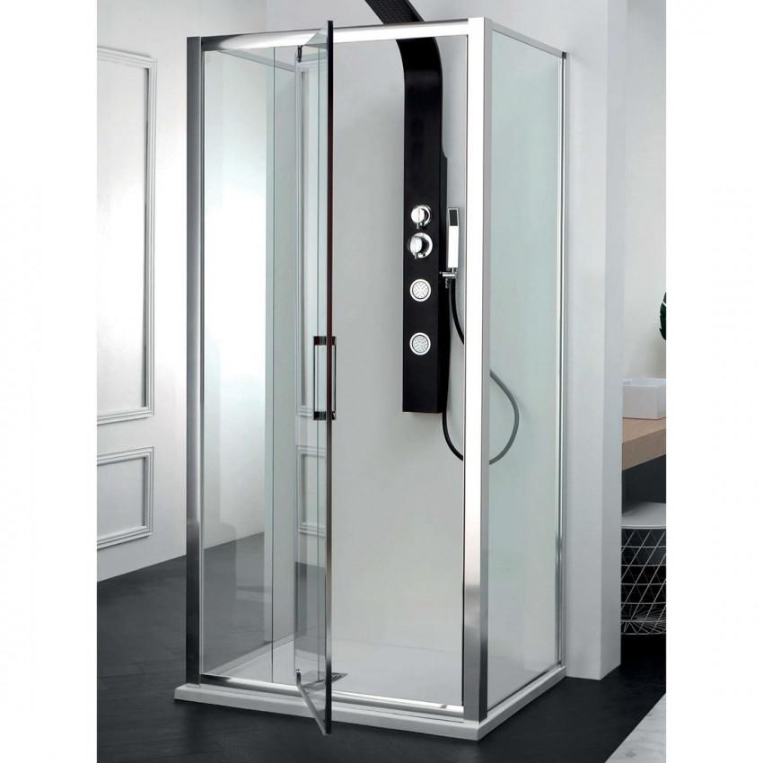Box doccia centro parete porta battente vetro doppio FPB40 Colacril