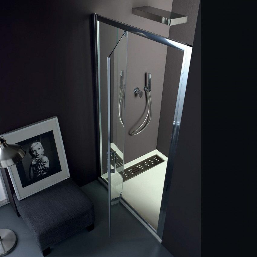 Cabine de douche en niche à double porte battante en verre FPB40 Colacril