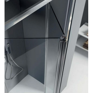Niche shower enclosure with folding door FPS30 Colacril