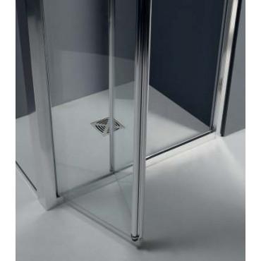 Box doccia centro parete porta a soffietto FPS30 Colacril