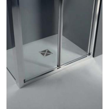 Corner shower enclosure with folding door FPS30 Colacril