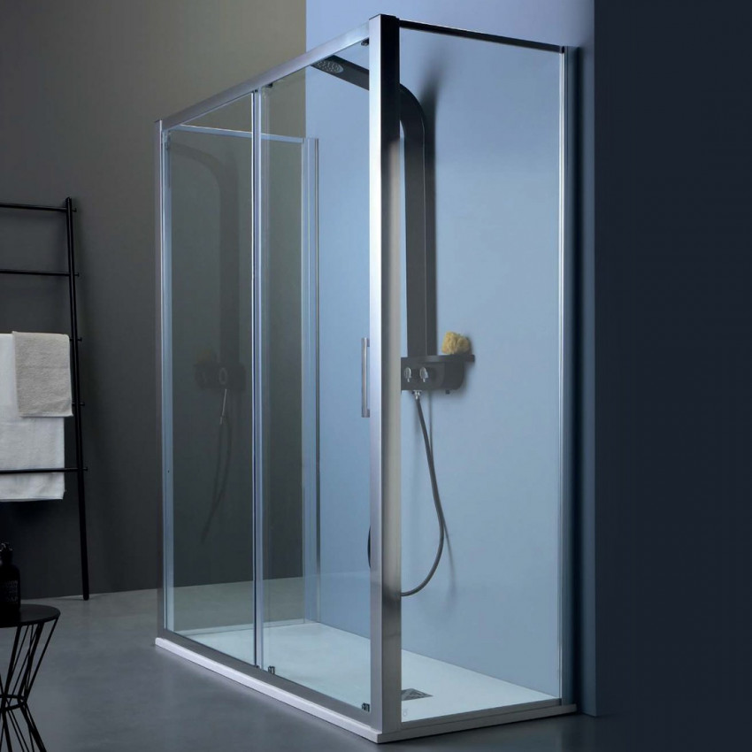 Center wall shower enclosure with sliding door FPSC50 Colacril