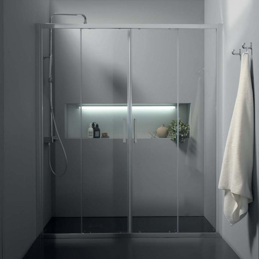 Cabine de douche en niche à portes coulissantes FPSC57 Colacril