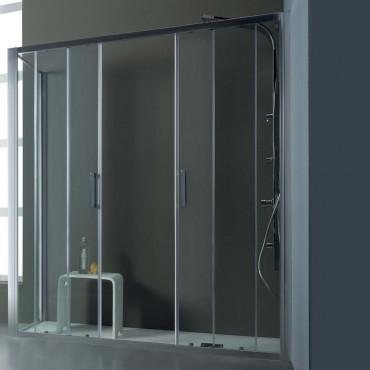 Corner shower enclosure with sliding door FPSC57 Colacril
