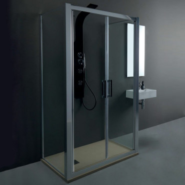 Center wall shower enclosure with saloon door FPSL60 Colacril
