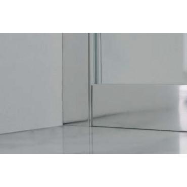 Semicircular shower enclosure with sliding door FS40 Colacril