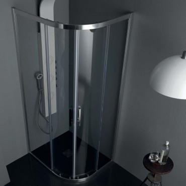 Cabine de douche semi-circulaire rectangulaire à portes coulissantes FS40 Colacril