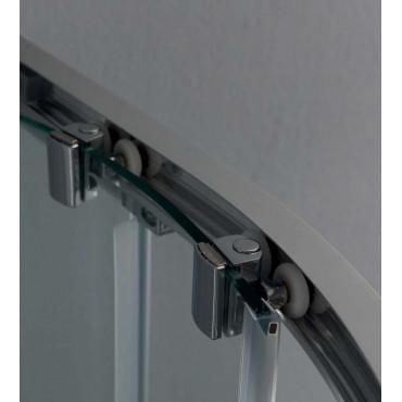 Semicircular rectangular shower enclosure with sliding door FS40 Colacril