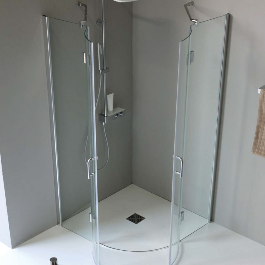 Semicircular shower enclosure with hinged door TB61 Colacril