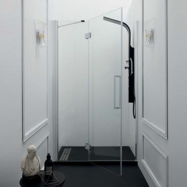 Box doccia a nicchia con porta battente TEPB43 Colacril